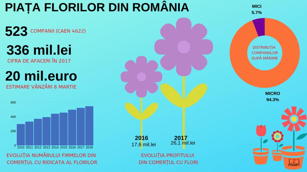 EVOLUȚIA NUMĂRULUI FIRMELOR DIN COMERȚUL CU RIDICATA AL FLORILOR