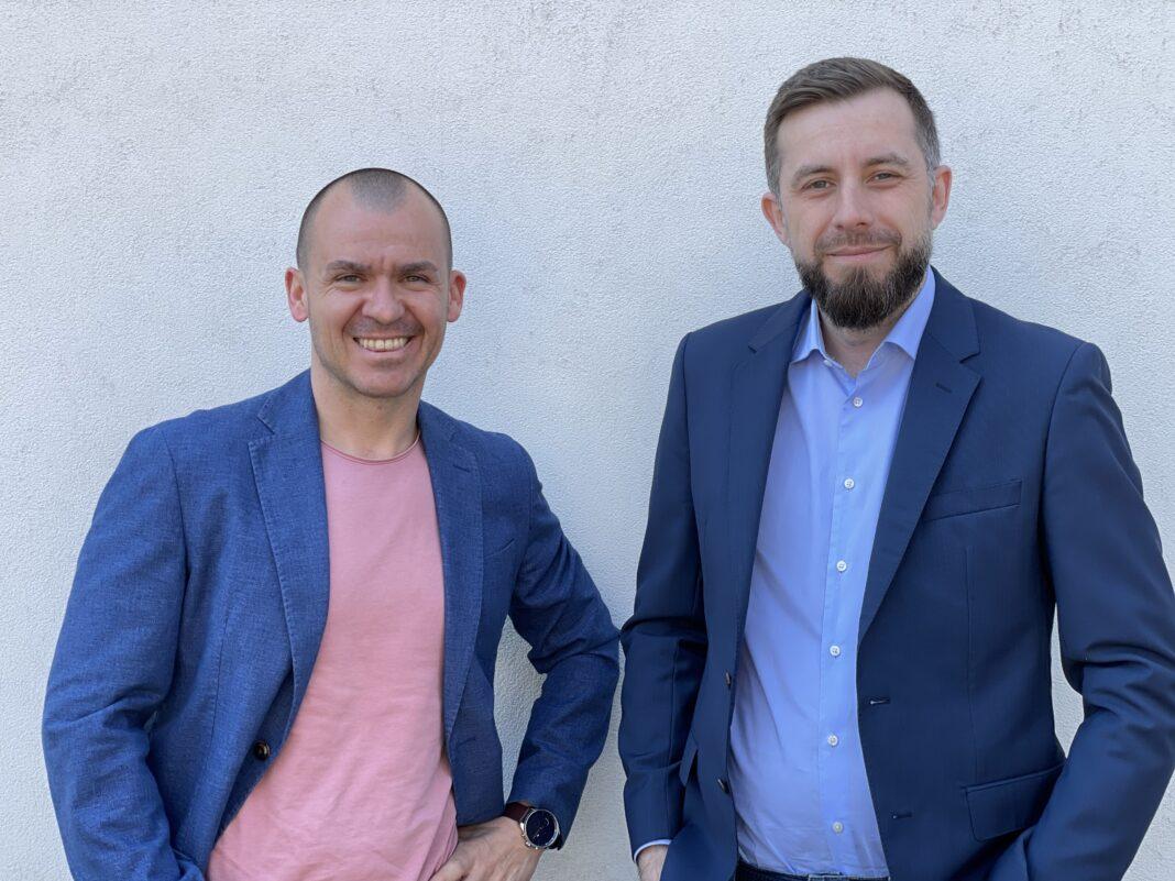 Stoyan Tsanev, Recycle International (stanga) si Mario Popescu, Tailent (dreapta)